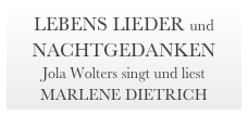 HOME         DEMO /CD         PROGRAMME         PRESSESTIMMEN        TERMINE       MUSIKER         DOWNLOAD        BOOKING       COACHING